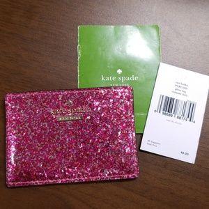 Glitter bug card holder